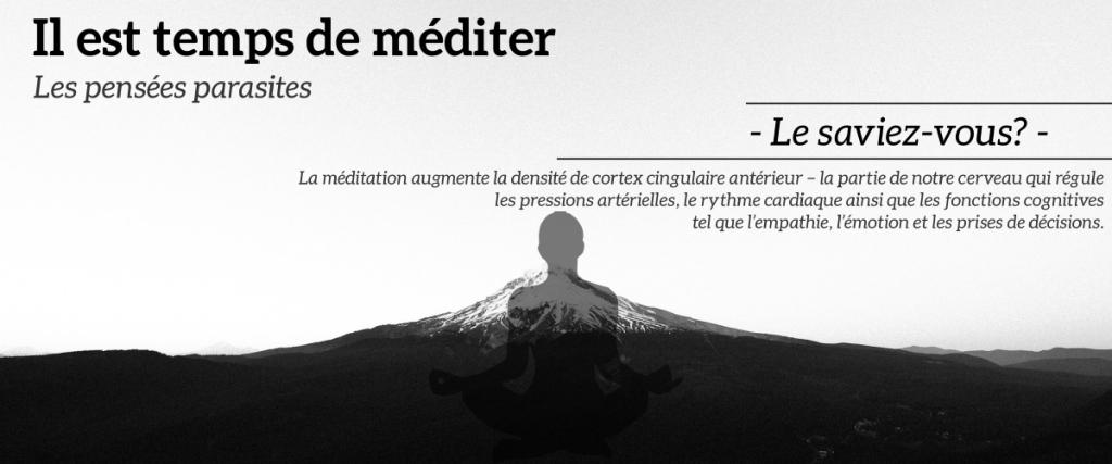 Comment gérer les pensées parasites durant méditation
